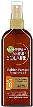 Düfte, Parfümerie und Kosmetik Bräunungsöl mit Sheabutter SPF 10 - Garnier Ambre Solaire Golden Protect Sun Oil SPF10