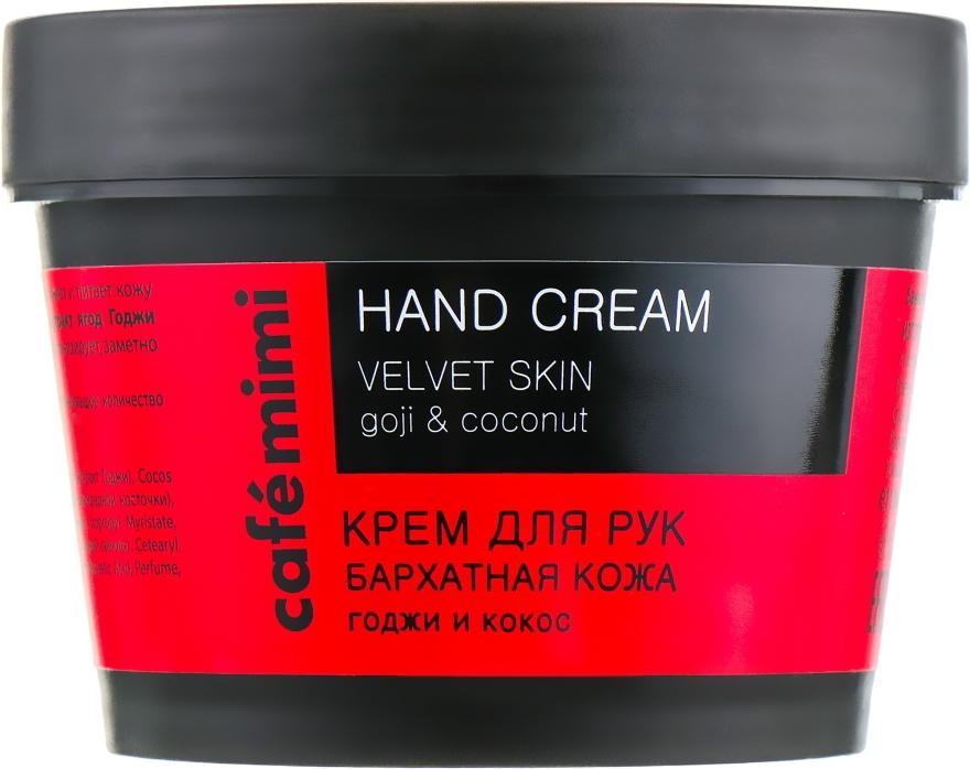 Handcreme mit Goji-Beere und Kokosnussöl - Cafe Mimi Hand Cream Velvet Skin — Bild N1