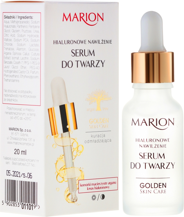 Gesichtsserum mit Hyaluronsäure - Marion Golden Skin Care