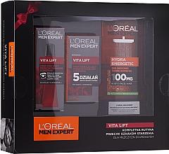 Düfte, Parfümerie und Kosmetik Gesichtspflegeset - L'Oreal Paris Men Expert (Duschgel 300ml + Gesichtscreme 50ml + Anti-Aging-Augencreme 15ml)