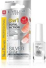 Düfte, Parfümerie und Kosmetik 8in1 Nagelconditioner - Eveline Cosmetics Nail Therapy Professional Silver Shine