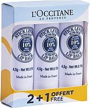 Düfte, Parfümerie und Kosmetik Lippenbalsam-Set - L'Occitane Ultra Rich Stick Lip Balm Trio