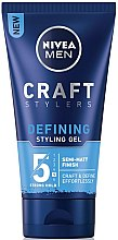 Düfte, Parfümerie und Kosmetik Definierendes Stylinggel mit semi-mattem Finish - Nivea Men Craft Stylers Defining Styling Gel