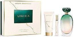 Düfte, Parfümerie und Kosmetik Adolfo Dominguez Unica - Duftset (Eau de Toilette/100ml + Körperlotion/75ml + Eau de Toilette/Mini/10ml)