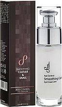 Düfte, Parfümerie und Kosmetik Glättende Anti-Aging-Augencreme mit Kaviar- und Schneckenextrakten - Hristina Cosmetics Sayaz Age Control Smoothing Caviar & Snail Eye Cream 24H