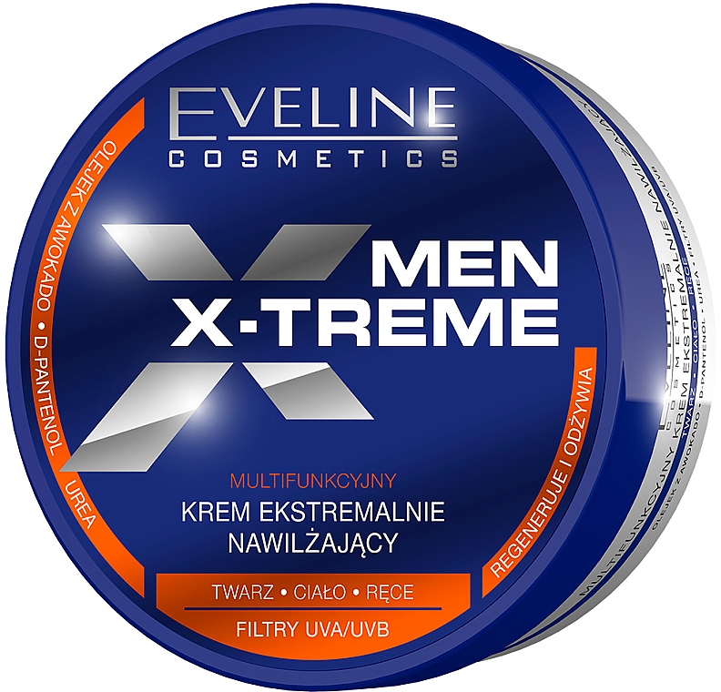 Intensiv feuchtigkeitsspendende multifunktionale Creme für Gesicht, Körper und Hände - Eveline Cosmetics Men X-Treme Moisturising Cream — Bild N1