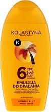 Düfte, Parfümerie und Kosmetik Wasserdichte Bräunungsemulsion mit Sheabutter SPF 6 - Kolastyna Emulsion SPF 6
