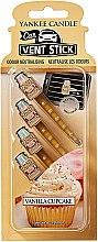 Düfte, Parfümerie und Kosmetik Auto-Lufterfrischer Vanilla Cupcake Duftstick - Yankee Candle Vanilla Cupcake Car Vent Sticks