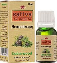 Düfte, Parfümerie und Kosmetik Ätherisches Zederholzöl - Sattva Ayurveda Cedarwood Essential Oil