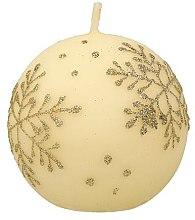 Düfte, Parfümerie und Kosmetik Dekorative Kerze Snowflake - Artman Christmas Candle Snowflake Ø8cm