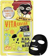 Düfte, Parfümerie und Kosmetik Regenerierende Tuchmaske für das Gesicht mit Kaviar - Dewytree Vita Caviar Black Sheet Mask