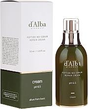 Düfte, Parfümerie und Kosmetik Reparierende und seboregulierende Gesichtscreme mit Peptiden - D'Alba Peptide No-Sebum Repair Cream