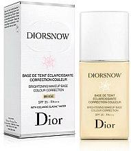 Düfte, Parfümerie und Kosmetik Augehellende getönte Gesichtsfoundation mit Sonnenschutz LSF 35 - Dior Brightening Makeup Base Colour Correction SPF35 PA+++
