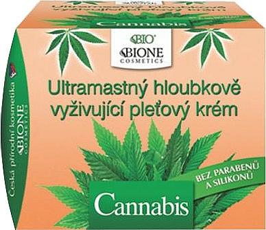 Intensiv pflegende Gesichtscreme mit Hanföl - Bione Cosmetics Cannabis Ultra Greasy Deeply Nourishing Cream