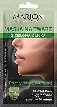 Düfte, Parfümerie und Kosmetik Gesichtsmaske für fettige und Mischhaut mit grünem Ton - Marion SPA Mask