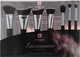Düfte, Parfümerie und Kosmetik Make-up Pinselset 7-tlg. - LP Makeup Set Of Seven Professional Brushes L'accessoire With Leather Bag