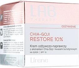 Düfte, Parfümerie und Kosmetik Pflegende und regenerierende Tagescreme mit Chia-Goji-Extrakt und Bernsteinsäure SPF 15 - Lirene Lab Therapy Nourishment Chia-Goji Skin 10%