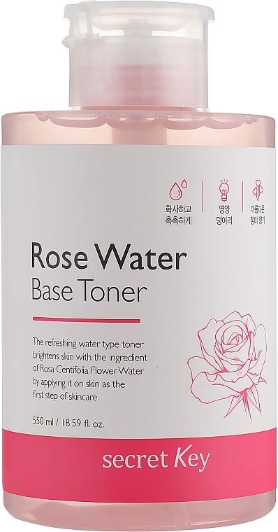 Aufhellendes Gesichtstonikum auf Rosenwasser-Basis - Secret Key Rose Water Base Toner