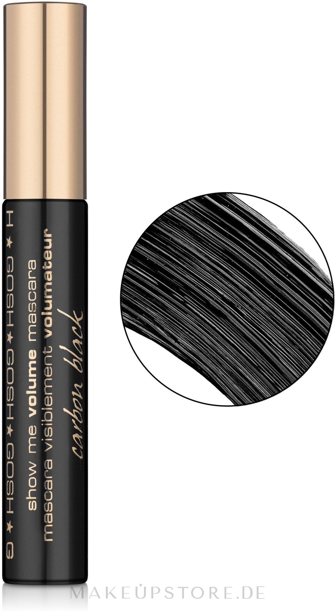 Wimperntusche für mehr Volumen - Gosh Show Me Volume Mascara — Bild Carbon Black