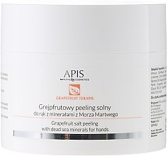 Düfte, Parfümerie und Kosmetik Handpeeling mit Grapefruit und Mineralien aus dem Toten Meer - APIS Professional Grapefruit terApis Salt Peeling
