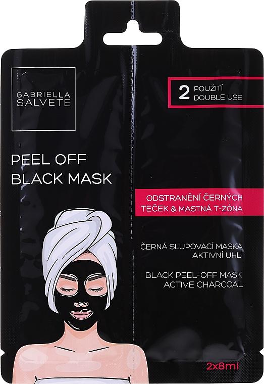 Schwarze Peel-Off Gesichtsmaske mit Bambuskohle, Pflanzenextrakten, Algenextrakten, Aloe Vera und Hyaluronsäure - Gabriella Salvete Black Peel-Off Mask — Bild N1