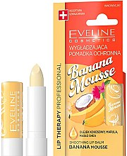 Düfte, Parfümerie und Kosmetik Glättender Lippenbalsam mit Bananenöl - Eveline Cosmetics Lip Therapy Smoothing Balm Banana Mousse