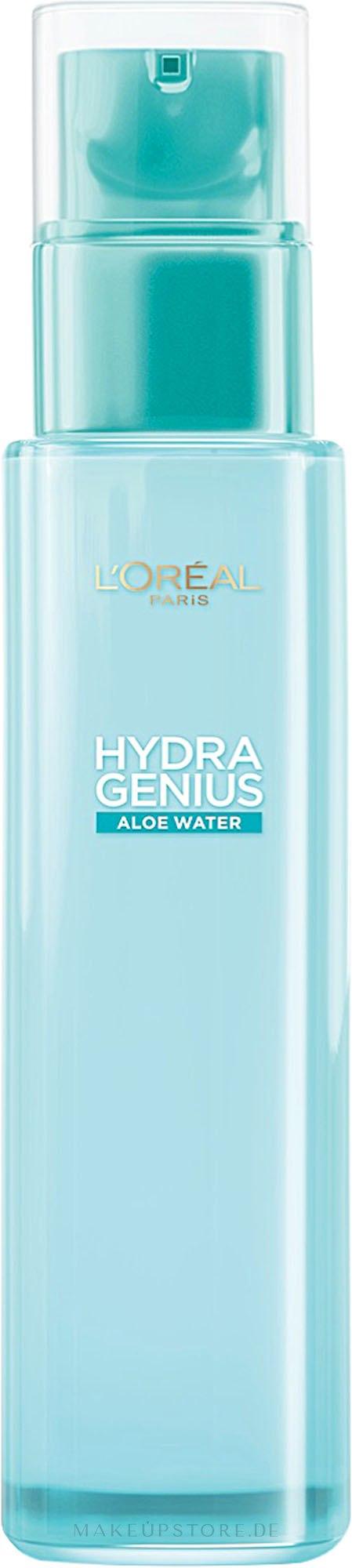 Feuchtigkeitsspendendes Aloe-Wasser für normale bis trockene Haut - L'Oreal Paris Hydra Genius Aloe Water — Bild 70 ml