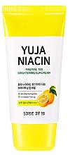 Düfte, Parfümerie und Kosmetik Aufhellende Sonnenschutzcreme für das Gesicht mit Yuja- und Lotusextrakt SPF 50+ - Some By Mi Yuja Niacin Mineral 100 Brightening Suncream