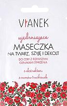 Düfte, Parfümerie und Kosmetik Straffende Gesichts-, Hals- und Dekolletémaske mit Erdbeerextrakt - Vianek