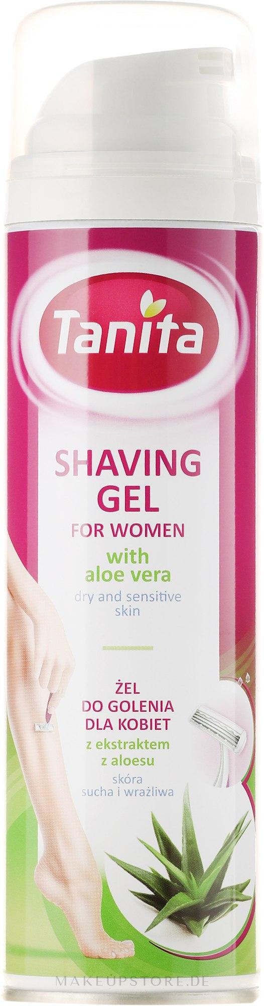Rasiergel mit Aloe Vera Extrakt für Frauen mit trockener und empfindlicher Haut - Tanita Body Care Shave Gel For Woman — Bild 200 ml