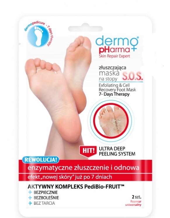 Peeling und zellregenerierende Fußmaske - Dermo Pharma Skin Repair Expert S.O.S. Exfoliating & Cell Recovery Foot Mask