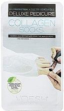 Düfte, Parfümerie und Kosmetik Pflegende Fußsocken mit Kollagen - Voesh Deluxe Pedicure Collagen Socks