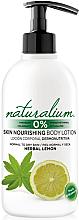 Düfte, Parfümerie und Kosmetik Pflegende Körperlotion für normale und trockene Haut mit Minze- und Zitronenduft - Naturalium Herbal Lemon Lotion