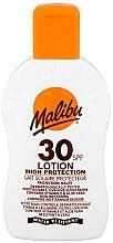 Düfte, Parfümerie und Kosmetik Feuchtigkeitsspendende wasserfeste Sonnenschutzlotion mit Vitamin E und Aloe Vera SPF 30 - Malibu Lotion Hight Protection