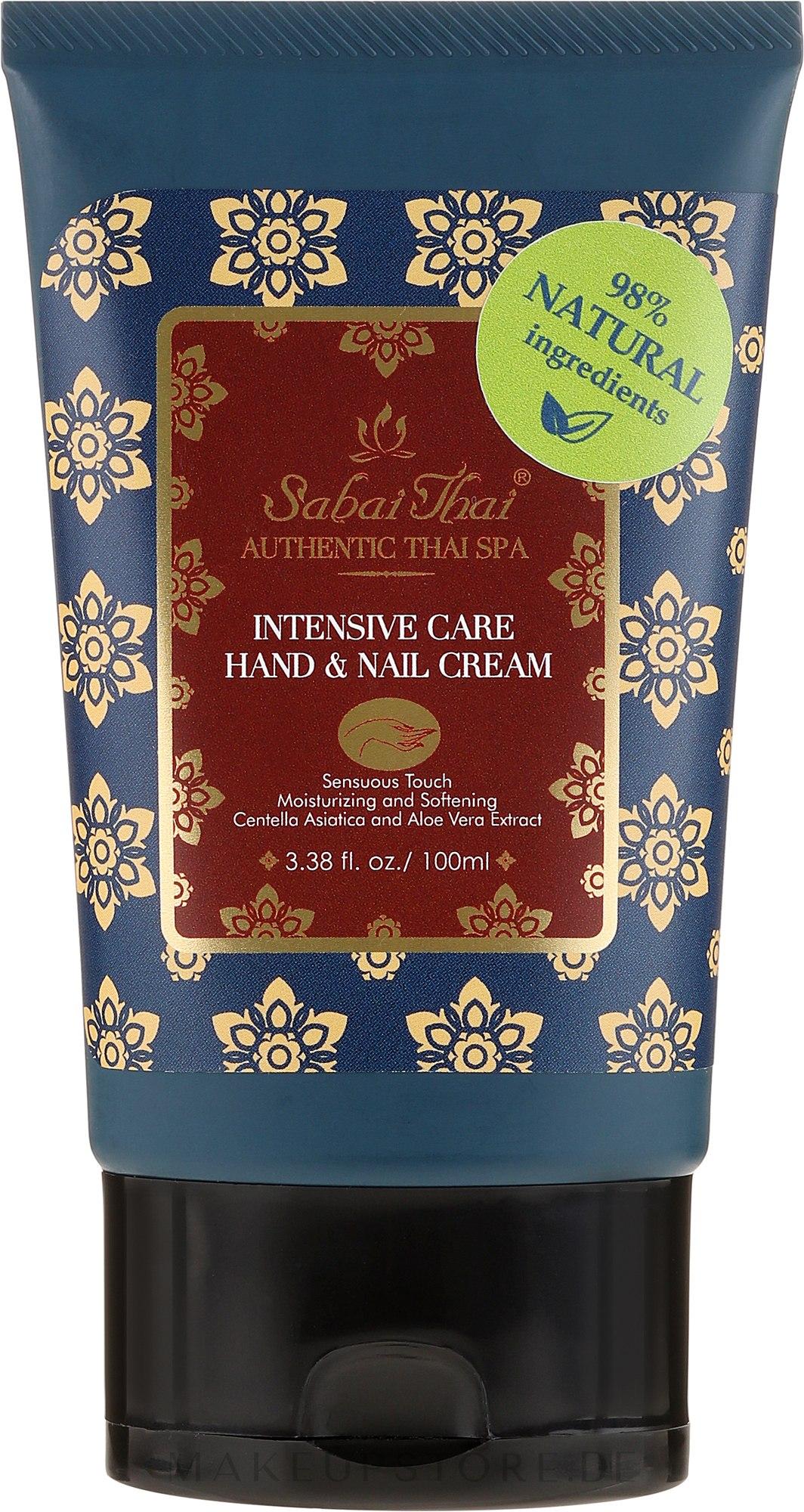 Intensiv pflegende Hand- und Nagelcreme mit Jasminduft - Sabai Thai Intensive Care Jasmine Hand & Nail Cream — Bild 100 ml