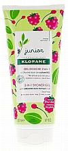Düfte, Parfümerie und Kosmetik Haar- und Körpergel für Kinder mit Himbeere - Klorane Junior 2in1 Shower Gel Body & Hair Raspberry