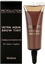 Düfte, Parfümerie und Kosmetik Augenbrauenfarbe - Makeup Revolution Ultra Aqua Brow Tint