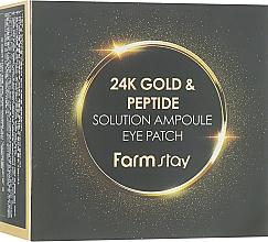 Hydrogel-Augenpatches mit 24K Gold und Peptiden - FarmStay 24K Gold And Peptide Solution Ampoule Eye Patch — Bild N1