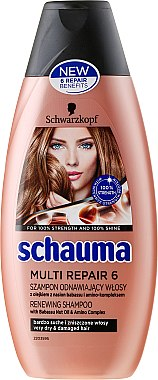 Reparierendes Shampoo 6 in 1 mit Babassuöl - Schwarzkopf Schauma Multi Repair 6 — Bild N1