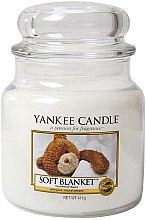 """Düfte, Parfümerie und Kosmetik Yankee Candle Soft Blanket - Duftkerze im Glas mit natürlichen Extrakten """"Soft Blanket"""""""