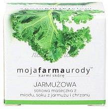 Düfte, Parfümerie und Kosmetik Aufhellende Gesichtsmaske mit Grünkohl, Honig & Meerrettich - Moja Farma Urody