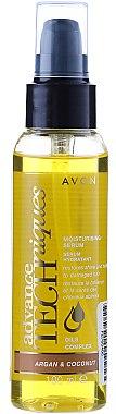 Feuchtigkeitsspendendes und pflegendes Haarserum mit Argan- und Kokosöl - Avon Advance Techniques Moisturising Serum — Bild N1