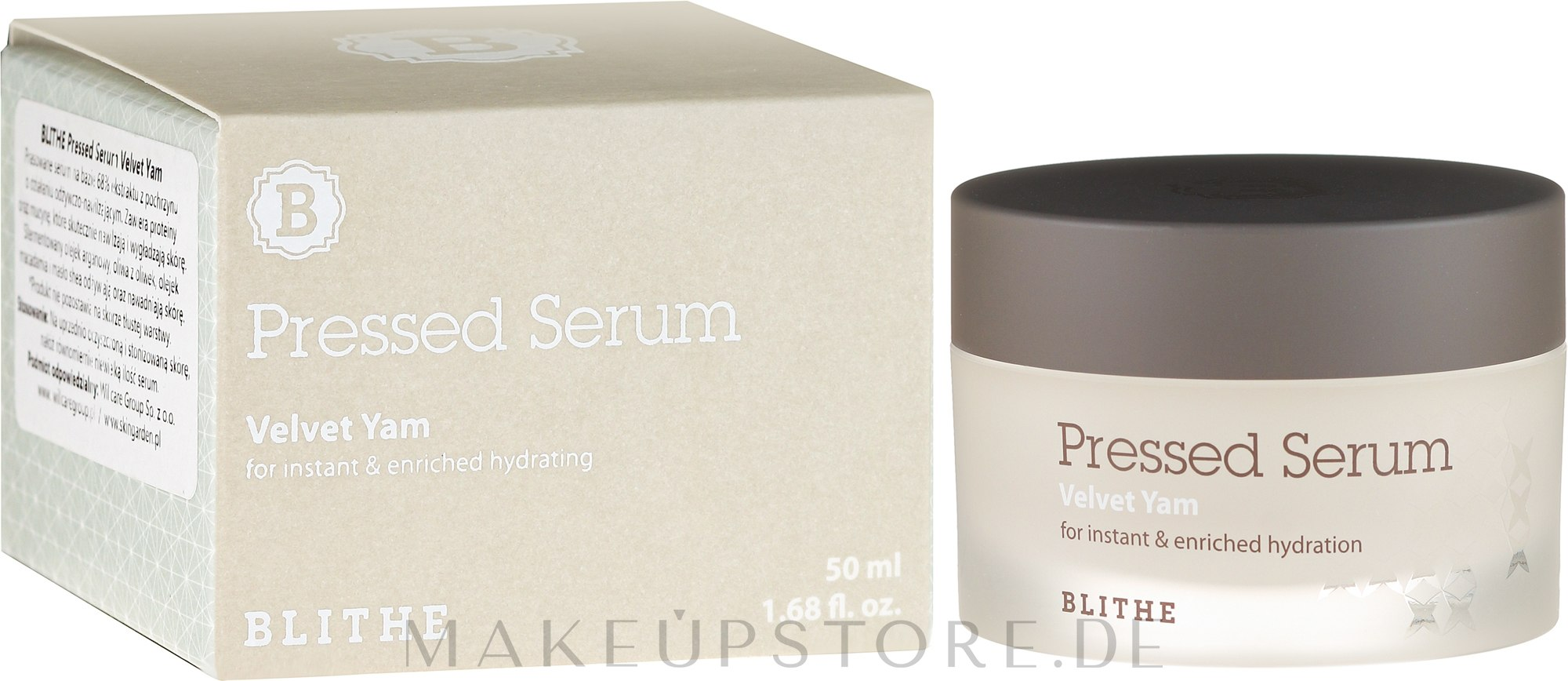 Intensives Feuchtigkeitsserum für das Gesicht - Blithe Pressed Serum Velvet Yam — Bild 50 ml