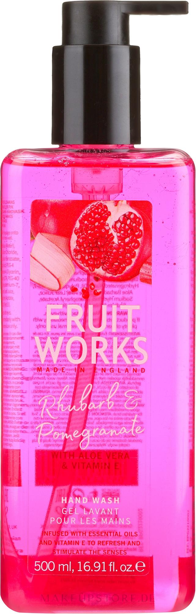 Flüssige Handseife mit Rhabarber und Granatapfel - Grace Cole Fruit Works Hand Wash Rhubarb & Pomegranate — Bild 500 ml