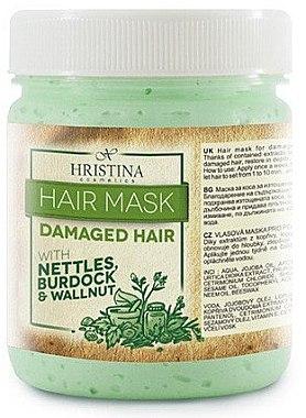 Maske für geschädigtes Haar mit Brennnessel, Klette und Walnuss - Hristina Cosmetics Hair Mask — Bild N1