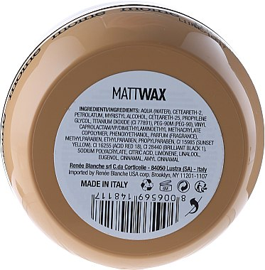 Haarwachs mit Matt-Effekt Starker Halt - Renee Blanche Moine Matt Wax — Bild N2