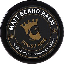 Düfte, Parfümerie und Kosmetik Mattierender Bartbalsam - Polish King Matt Beard Balm