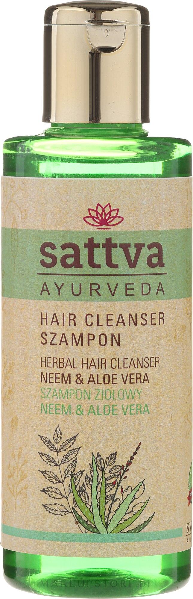 Shampoo mit Aloe Vera und Neem - Sattva Cleanser Shampoo Neem Aloe Vera — Bild 210 ml