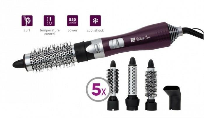 Warmluftbürste mit 5 Stylingaufsätzen - Concept Violette Care KF-1400 — Bild N3