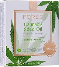 Düfte, Parfümerie und Kosmetik Beruhigende Gesichtsmaske mit Hanfsamenöl - Foreo UFO Cannabis Seed Oil Mask